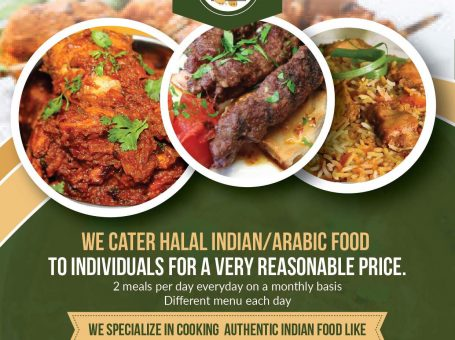 Halal Food Delivery & Catering For Individuals (Indian & Arab Food)