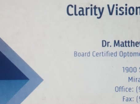 Optometrist – Clarity Vision Center